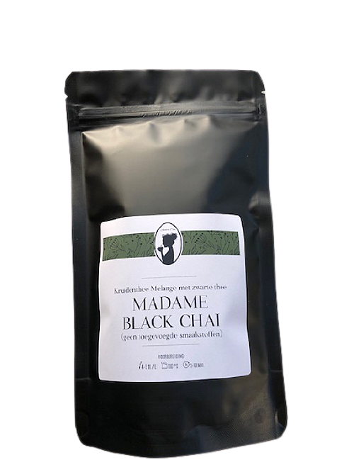 madame black chai in verpakking