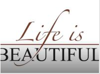 life is beautiful tv item